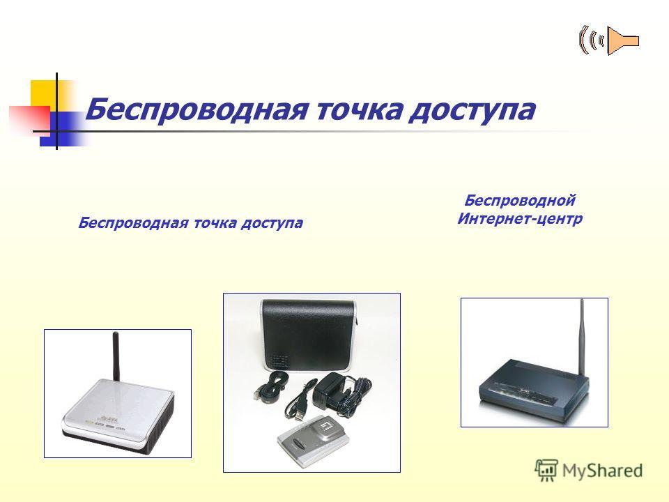 Беспроводная точка доступа Беспроводной Интернет-центр