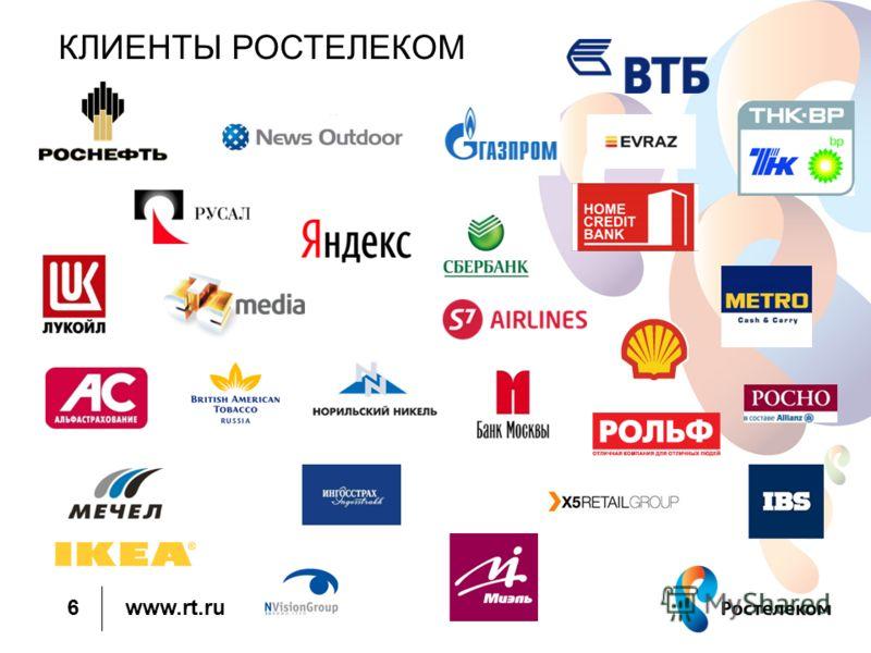www.rt.ru КЛИЕНТЫ РОСТЕЛЕКОМ 6