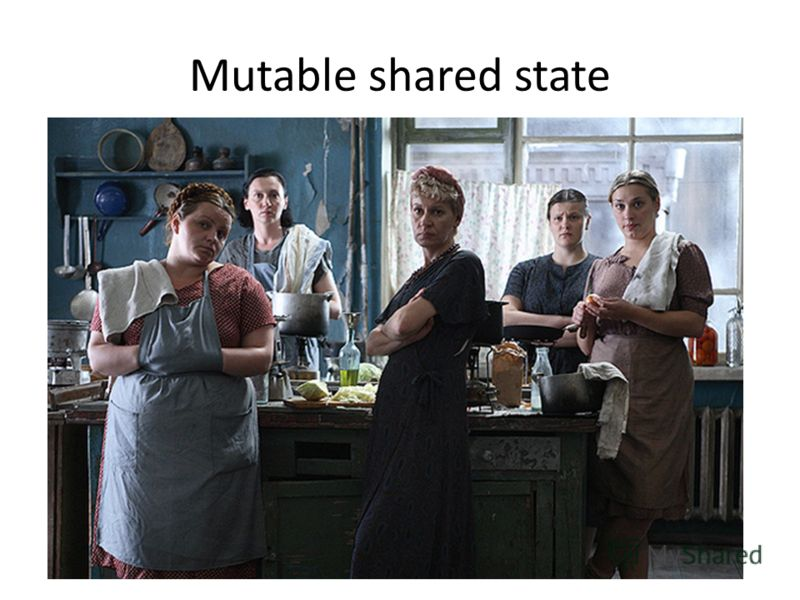Mutable shared state