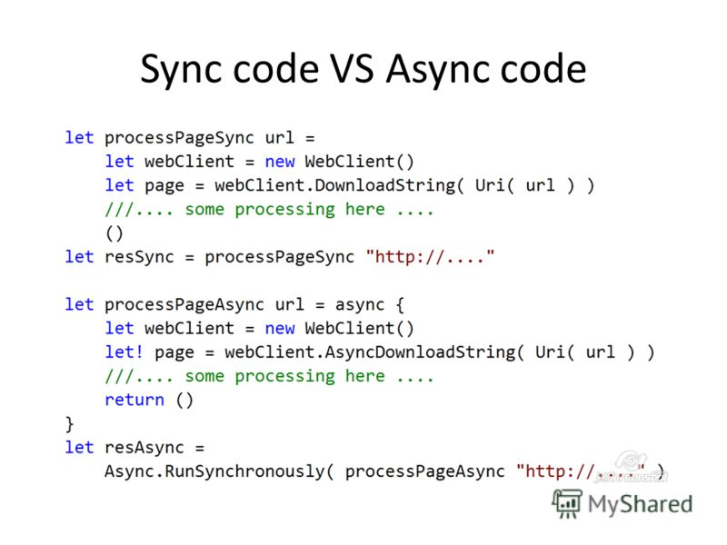Sync code VS Async code