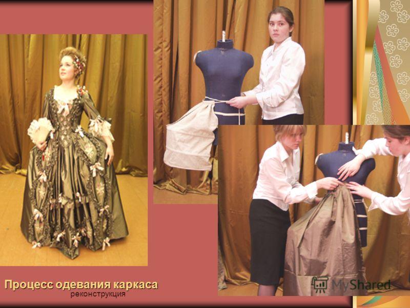 Процесс одевания каркаса реконструкция