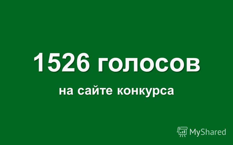 1526 голосов на сайте конкурса
