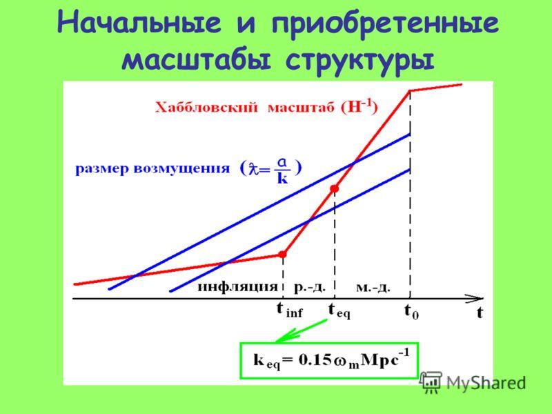 Начальные и приобретенные масштабы структуры
