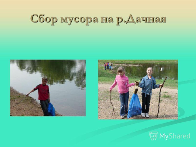 Сбор мусора на р.Дачная
