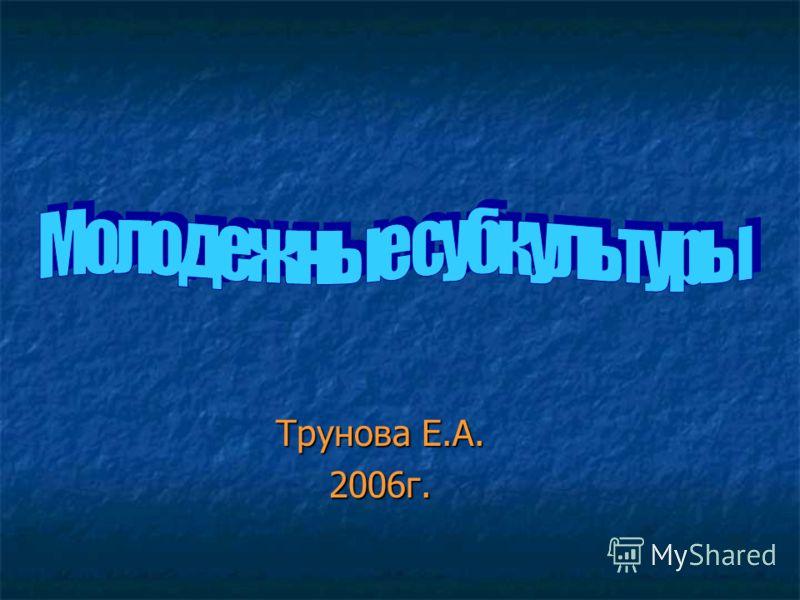 Трунова Е.А. 2006г.