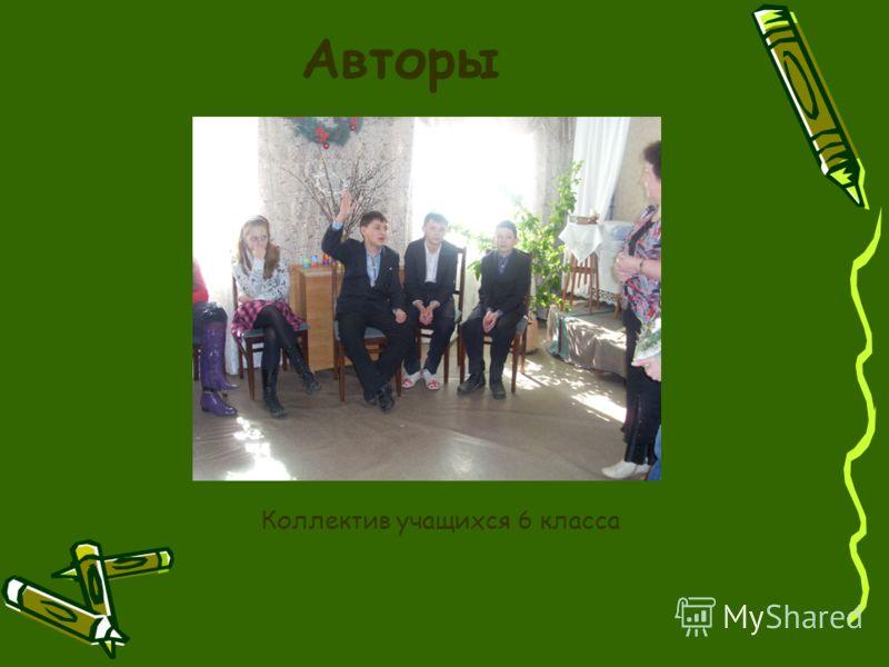 Авторы Коллектив учащихся 6 класса