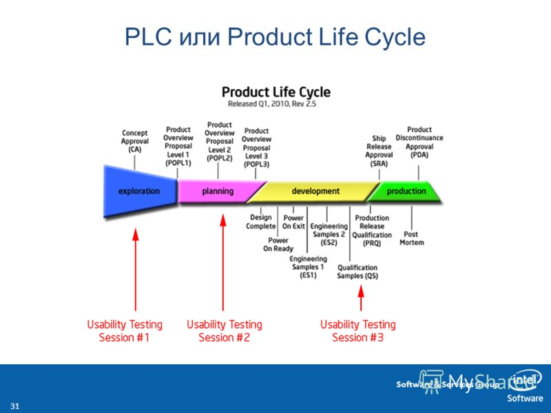 Software & Services Group PLC или Product Life Cycle 31