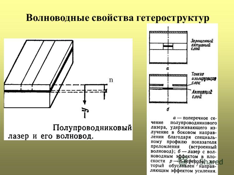 Волноводные свойства гетероструктур