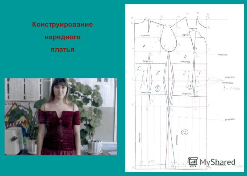 Конструирование нарядного платья