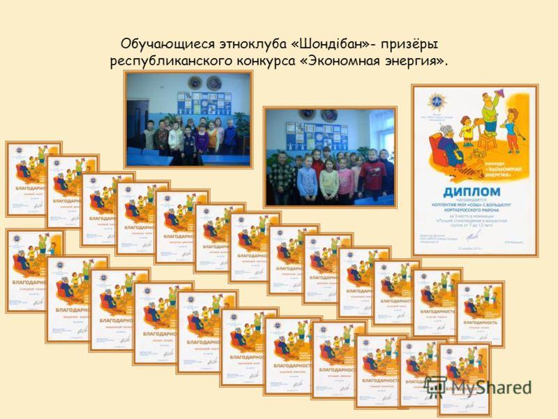 Обучающиеся этноклуба «Шондібан»- призёры республиканского конкурса «Экономная энергия».