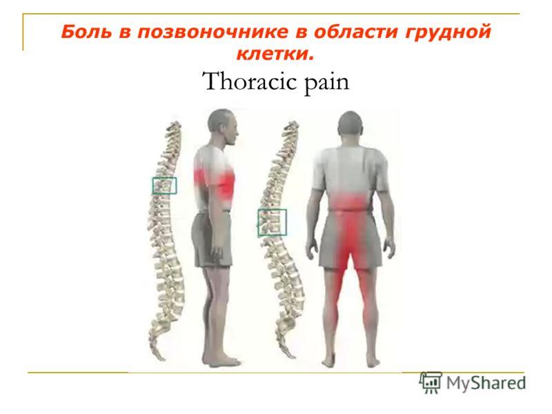 Боль в позвоночнике в области грудной клетки. Thoracic pain