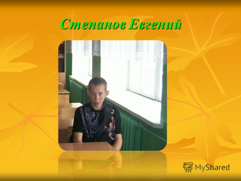 Степанов Евгений