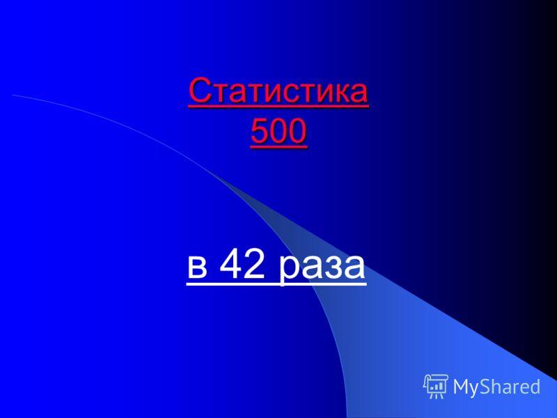 Статистика 500 Статистика 500 в 42 раза
