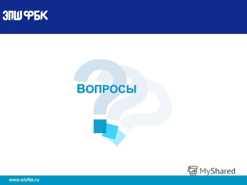 12 www.elsfbk.ru ? ? ? В ОПРОСЫ