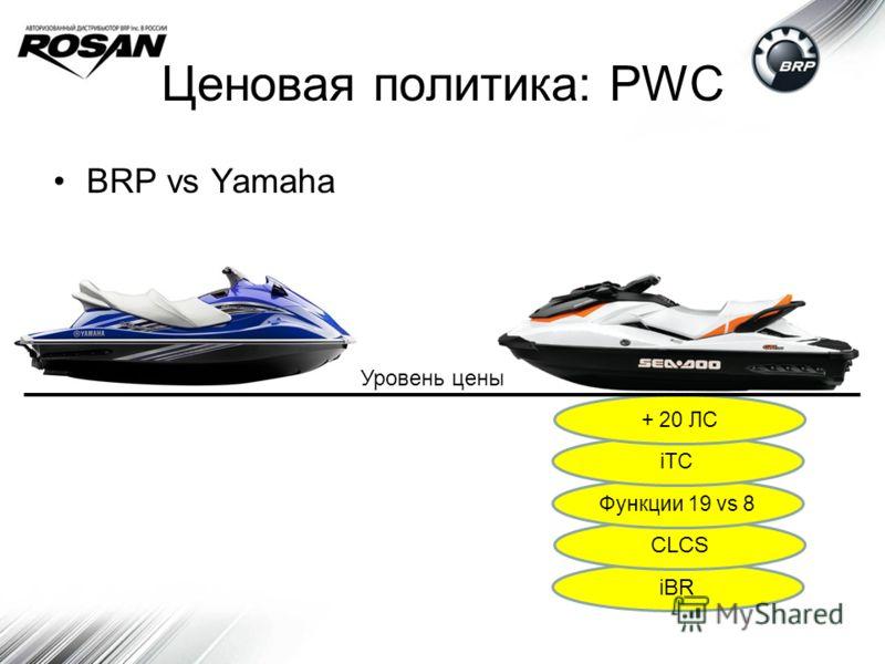Ценовая политика: PWC BRP vs Yamaha iBR CLCS Функции 19 vs 8 iTC + 20 ЛС Уровень цены