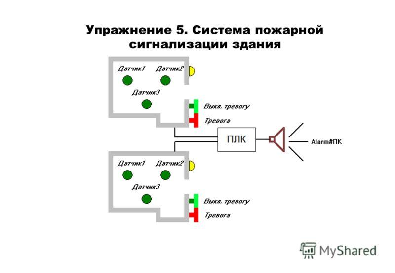 Упражнение 5. Система пожарной сигнализации здания