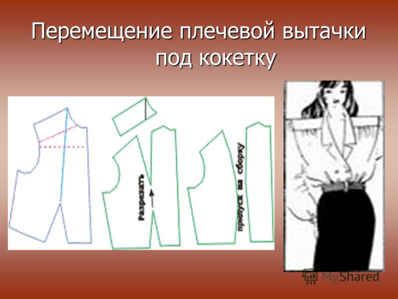 Перемещение плечевой вытачки под кокетку Перемещение плечевой вытачки под кокетку