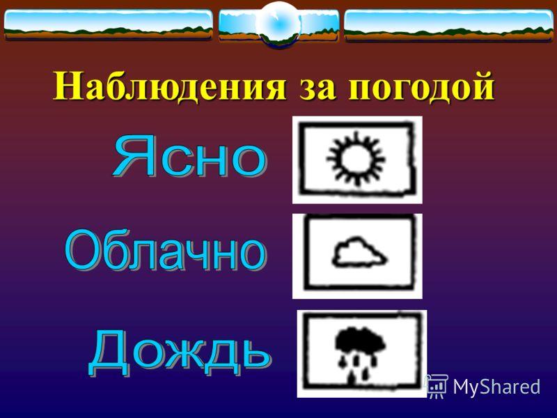 Наблюдения за погодой