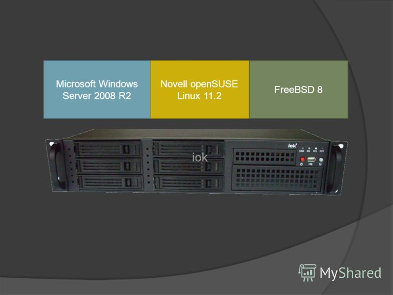 Microsoft Windows Server 2008 R2 Novell openSUSE Linux 11.2 FreeBSD 8