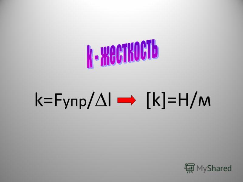 k=F упр / l [k]=Н/м