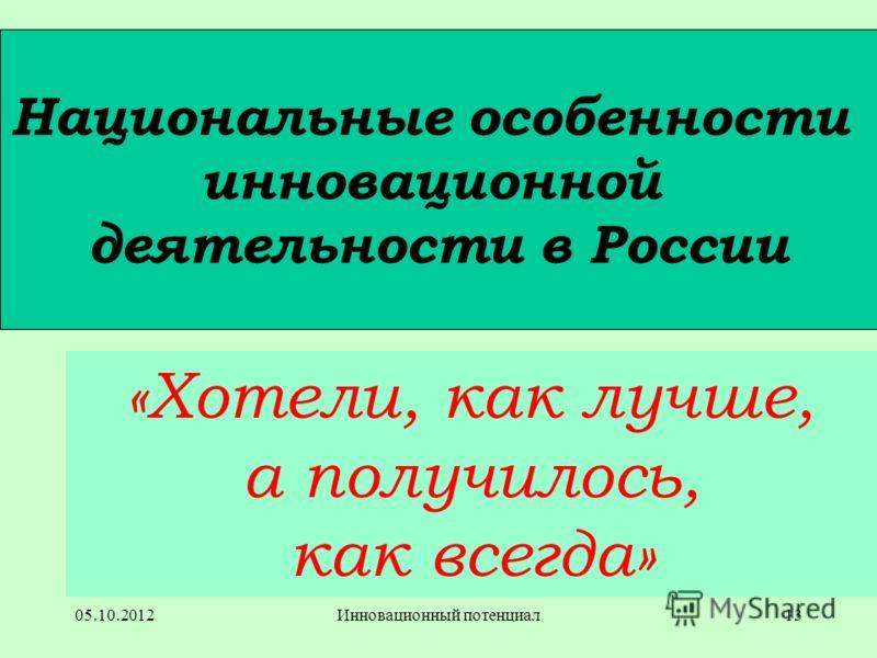 25.08.2012Инновационный потенциал12 …ЭНТРОПИИ… многовато!