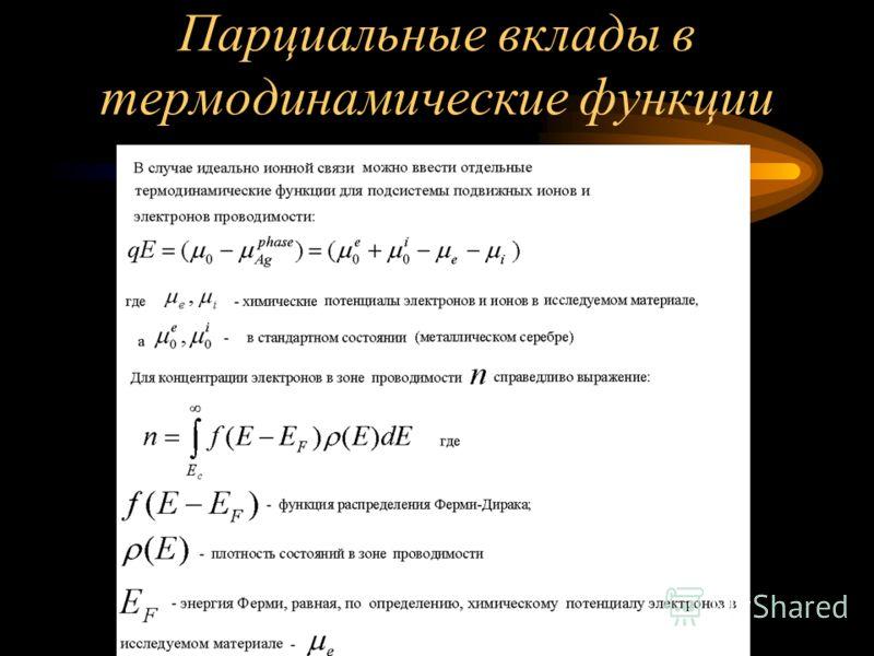 Термодинамические функции