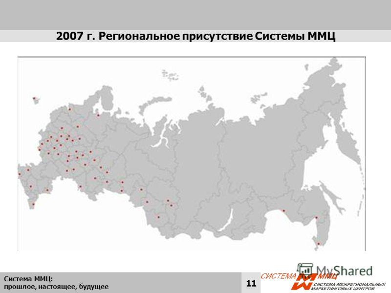 Система ММЦ: прошлое, настоящее, будущее 11 2007 г. Региональное присутствие Системы ММЦ