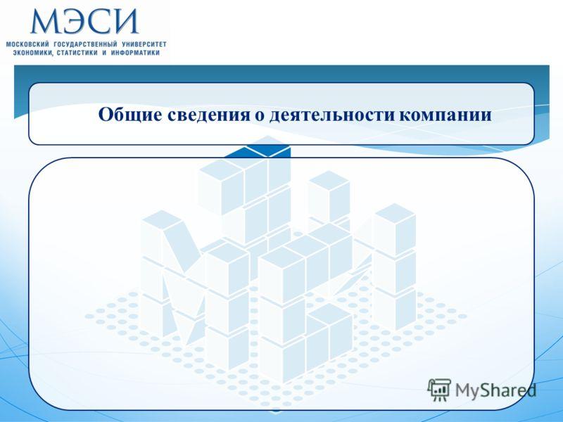 6 Общие сведения о деятельности компании