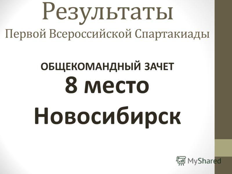 Результаты Первой Всероссийской Спартакиады 8 место Новосибирск ОБЩЕКОМАНДНЫЙ ЗАЧЕТ