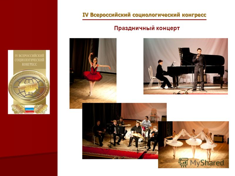 IV Всероссийский социологический конгресс Праздничный концерт