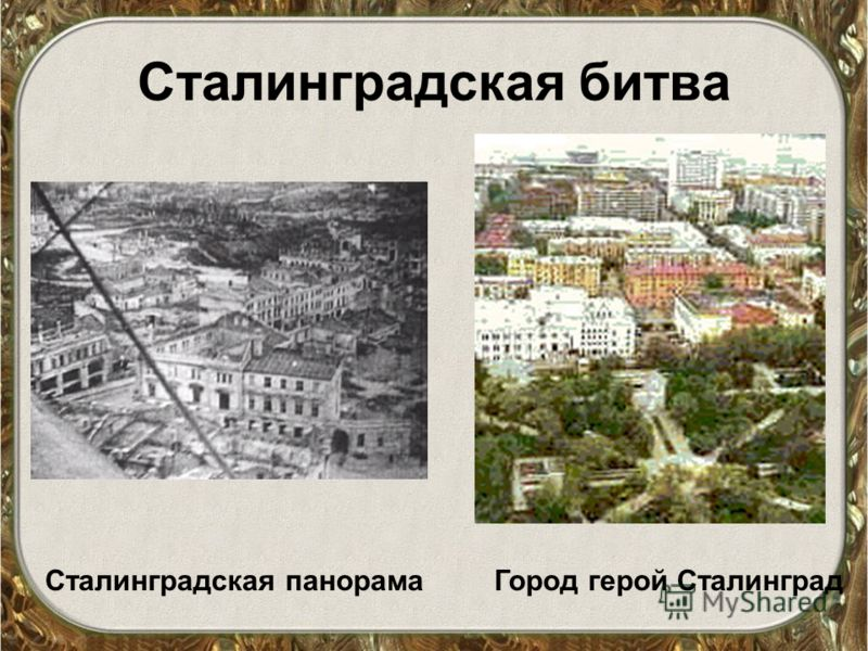 Сталинградская битва Сталинградская панорамаГород герой Сталинград
