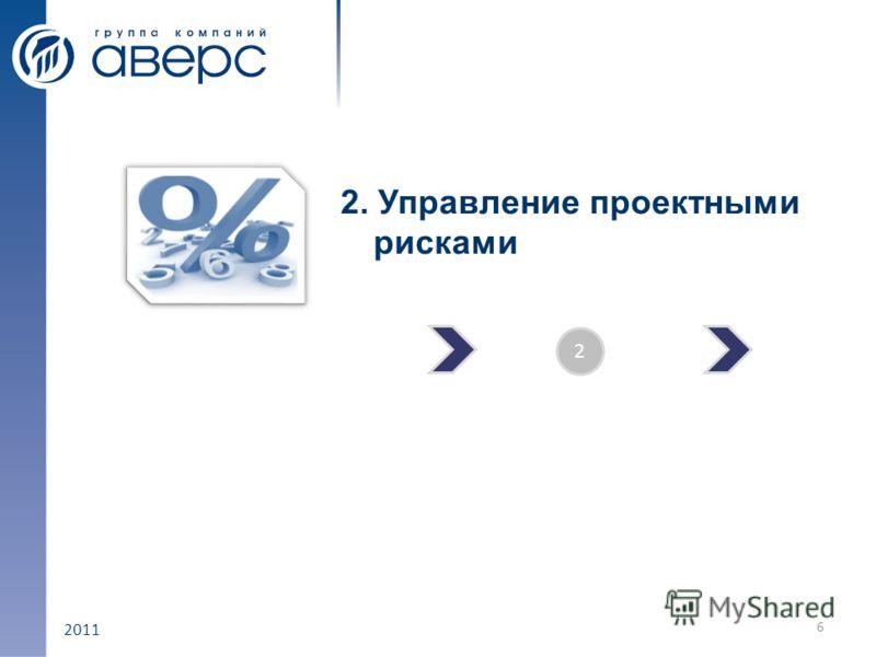2011 2. Управление проектными рисками 6 2