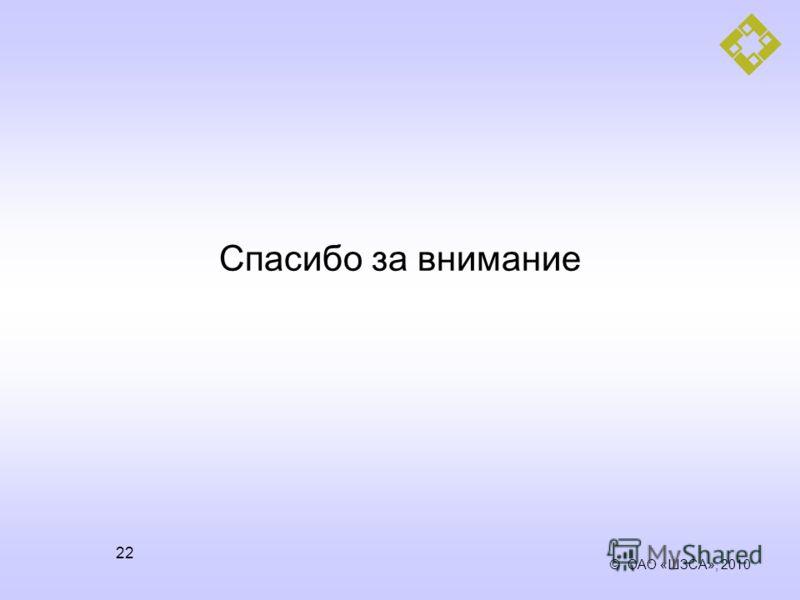© ОАО «ШЗСА», 2010 22 Спасибо за внимание