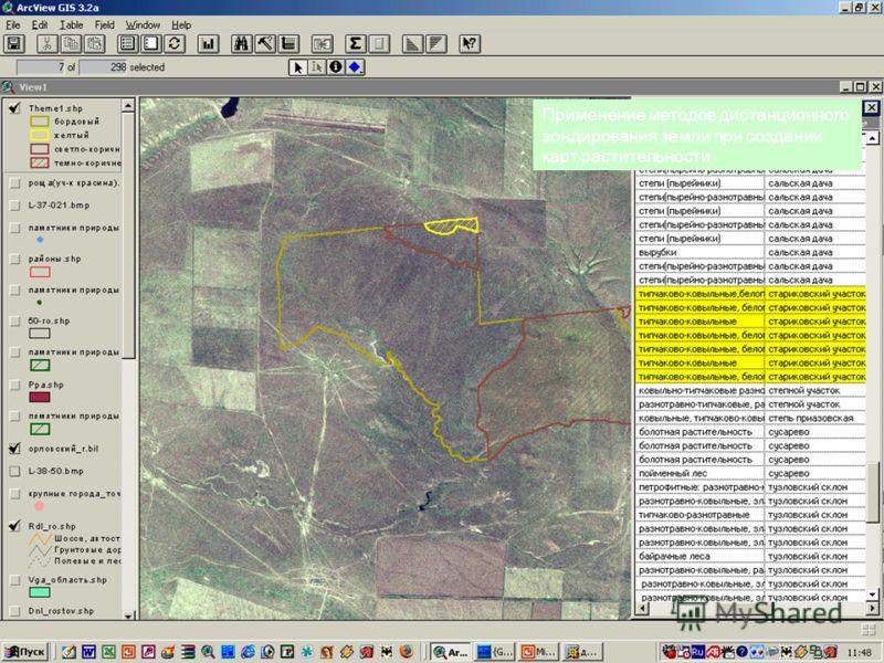 Применение методов дистанционного зондирования земли при создании карт растительности