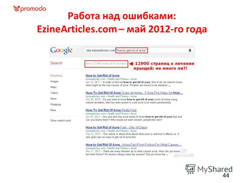 Работа над ошибками: EzineArticles.com – май 2012-го года 44