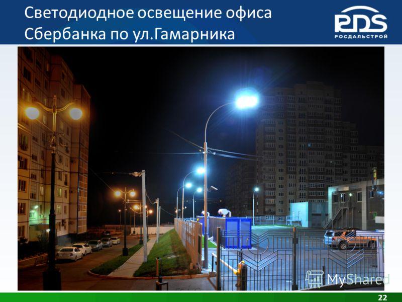 Светодиодное освещение офиса Сбербанка по ул.Гамарника 22