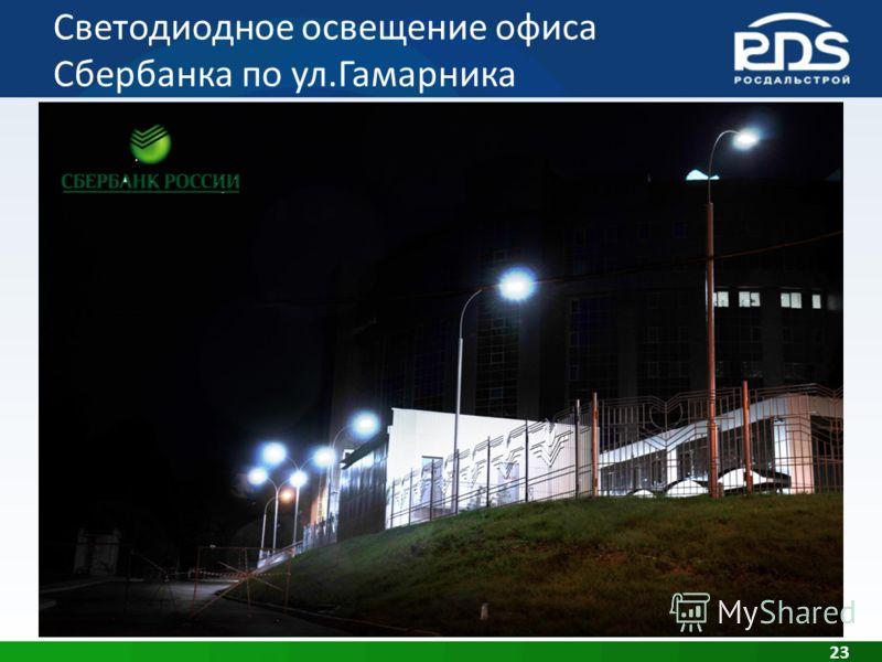 Светодиодное освещение офиса Сбербанка по ул.Гамарника 23