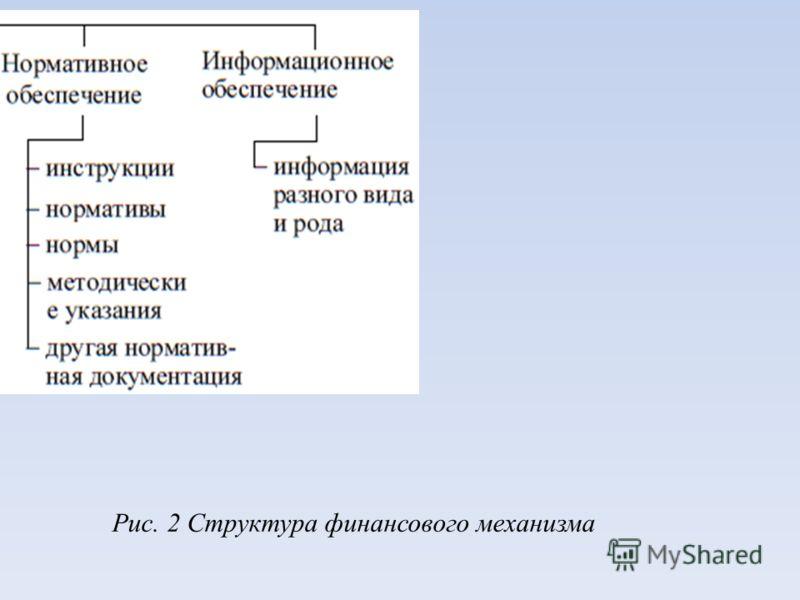 Рис. 2 Структура финансового механизма