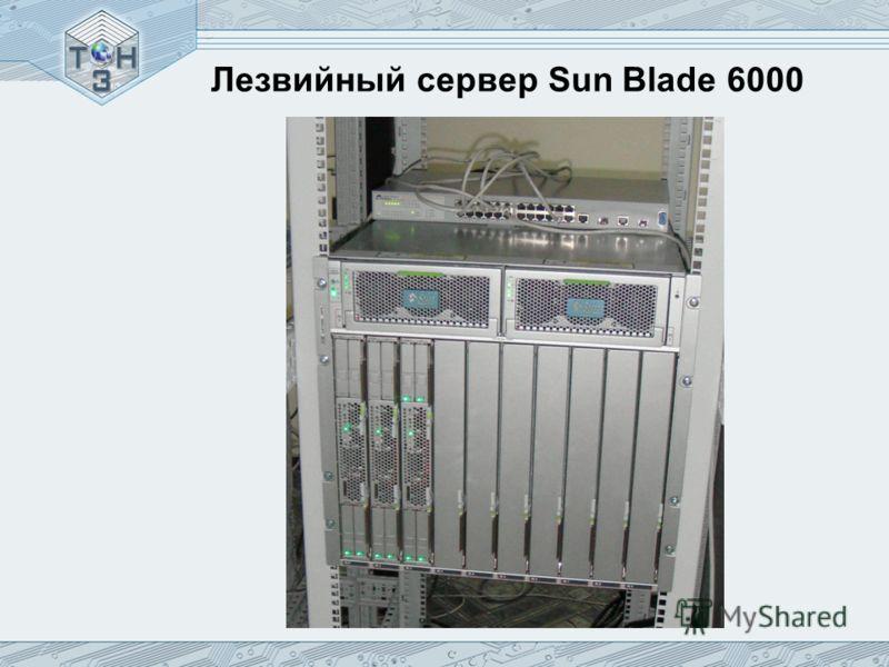 Лезвийный сервер Sun Blade 6000