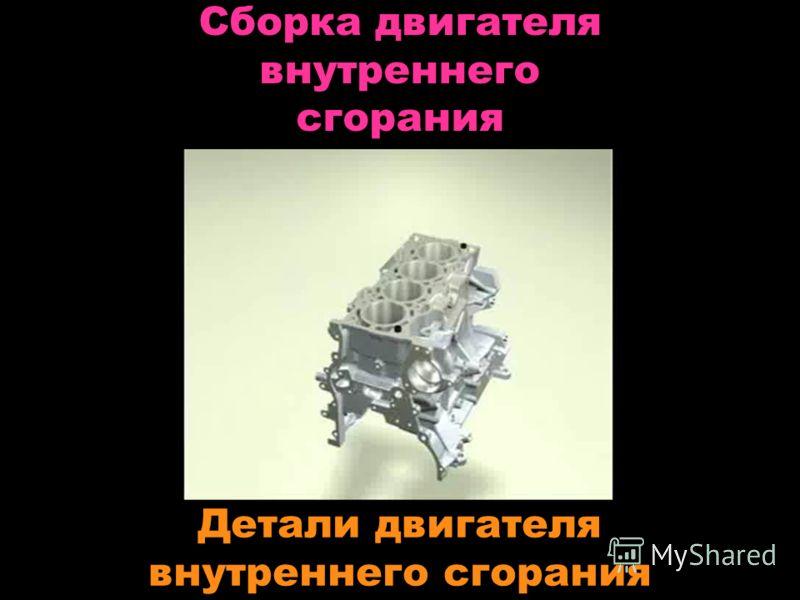 Сборка двигателя внутреннего сгорания Детали двигателя внутреннего сгорания
