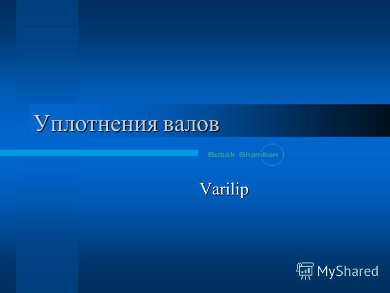 Уплотнения валов Varilip