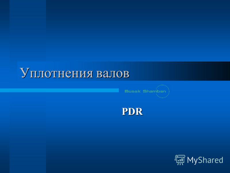 Уплотнения валов PDR