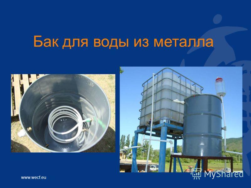 www.wecf.eu Бак для воды из металла
