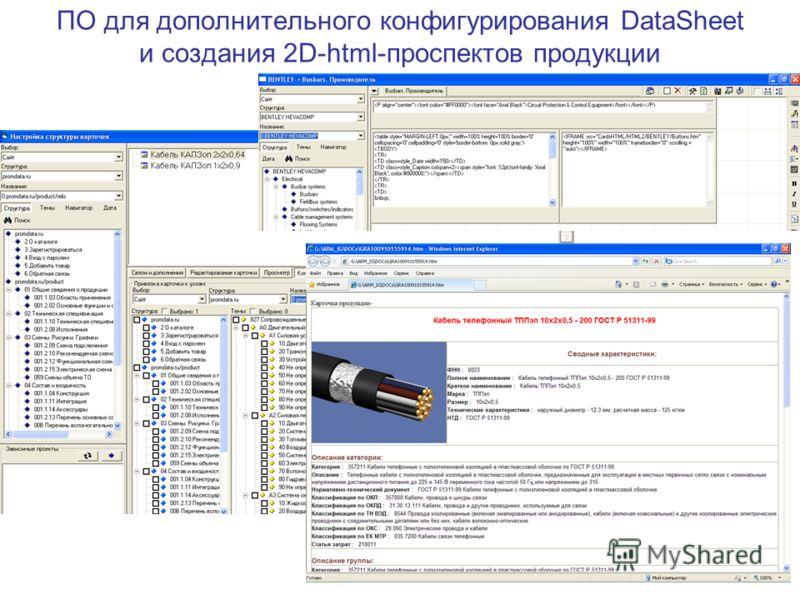 ПО для дополнительного конфигурирования DataSheet и создания 2D-html-проспектов продукции