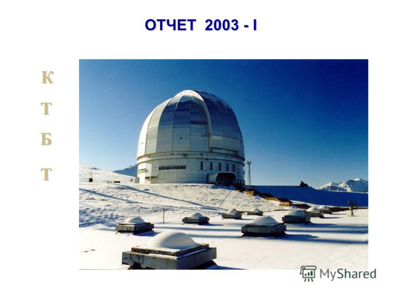 ОТЧЕТ 2003 - I К Б Б Т Т
