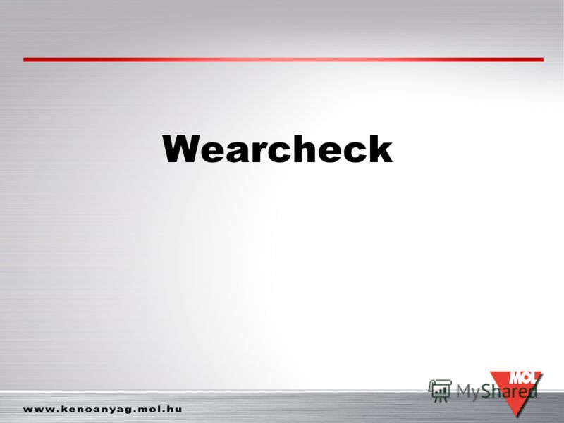 Wearcheck