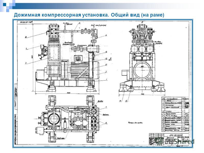 Дожимная компрессорная установка. Общий вид (на раме)