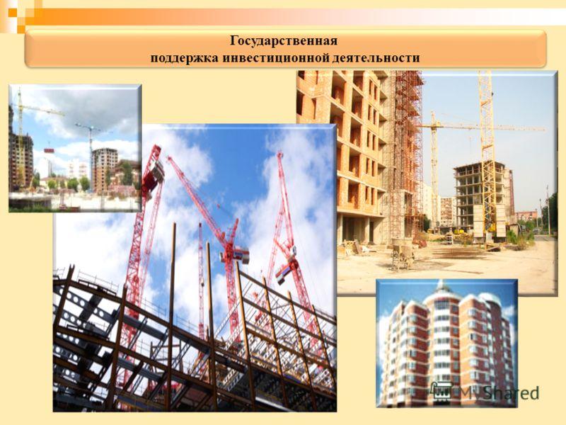 Государственная поддержка инвестиционной деятельности Государственная поддержка инвестиционной деятельности