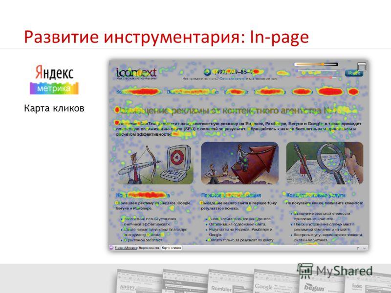 Развитие инструментария: In-page Карта кликов