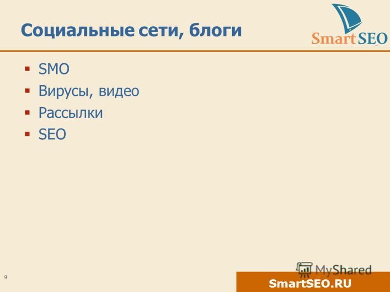 SmartSEO.RU Социальные сети, блоги SMO Вирусы, видео Рассылки SEO 9